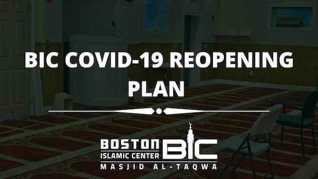 BIC COVID-19 REOPENING PLAN