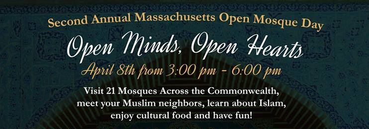 """MA Open Mosques Day! """"Open Minds, Open Hearts."""""""